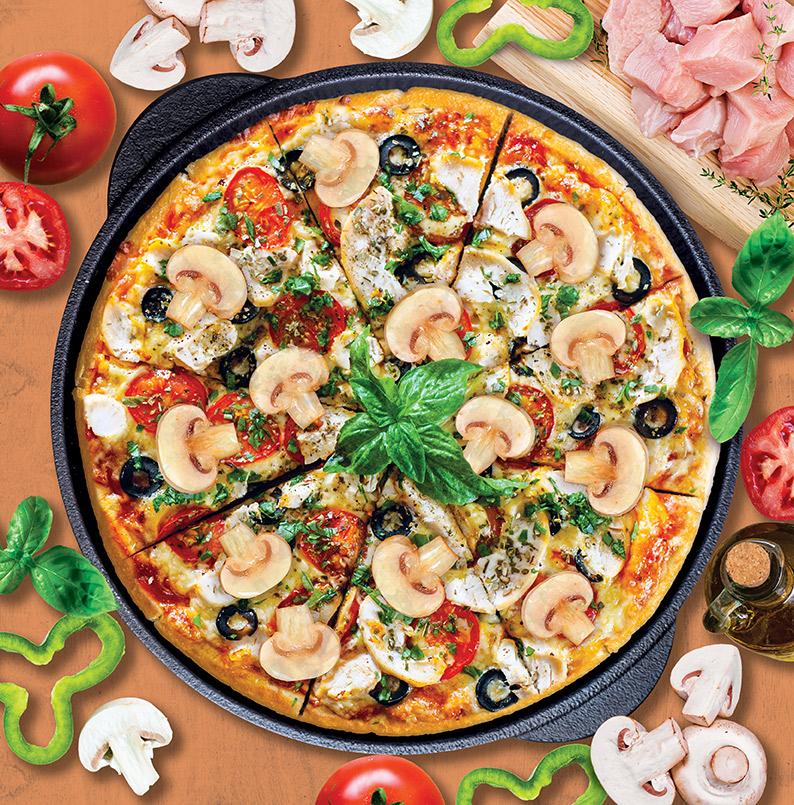 Chicken & Mushroom Pizza