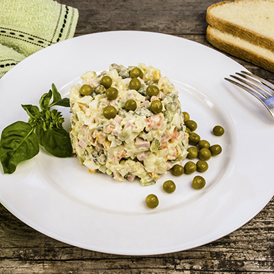 Olivier Salad With Beef Bologna