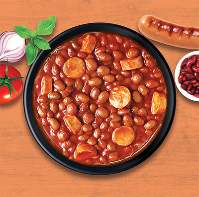 Baked Beans With Beef Franks