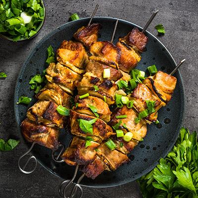 Marinated Boneless Chicken Kebab