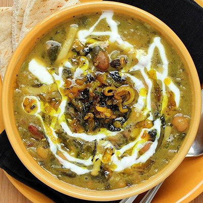 Persian Noodles & Mixed Herb Soup